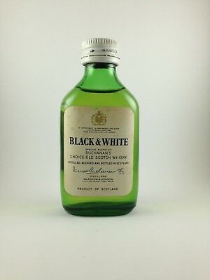 Buchanan's Black and White Scotch Whisky Rare Circa 1970's Miniature