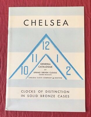Chelsea 1936 Catalog of Clocks - 50th Anniversary Cat #19 with Prices!!!