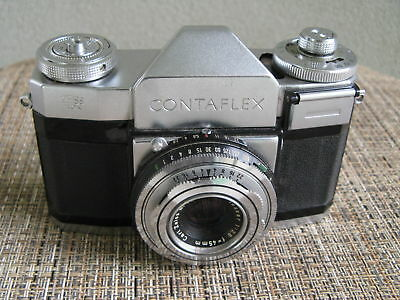Zeiss Ikon Contaflex 35mm SLR Camera, Tessar 45mm F2.8 Lens, Clean Condition