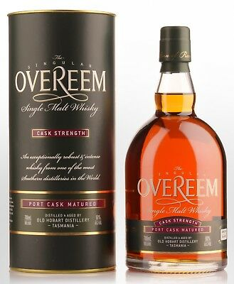 Overeem Port Cask Strength Tasmanian Single Malt Whisky 60% ABV