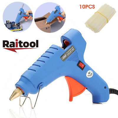 Raitool 60W Electric Hot Melt Craft Heating Glue Gun Dispenser + 10 Glue Sticks