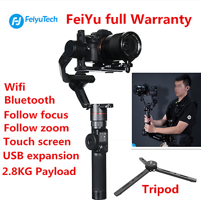 Feiyu AK2000 3-Axis Camera Stabilizer Gimbal Focus Zoom 360° With Touch Screen