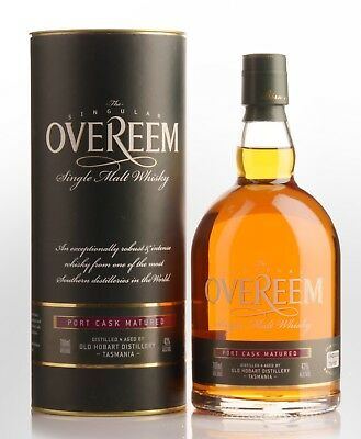 Old Hobart Distillery Overeem Port Cask Matured Single Malt Whisky (700mL)