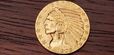 1909-D $5 NGC MS Condition Indian Head Gold Half Eagle