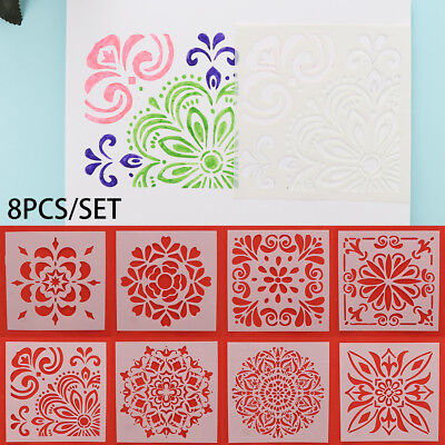 DIY Craft Stamp Layering Stencils Embossing Template Scrapbooking Wall Painting