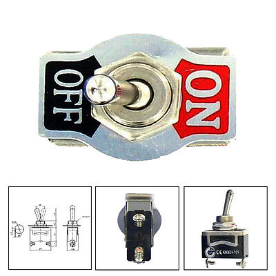 Car Home 20A 125V 15A 250V SPST 2Pin Metal ON/OFF Rocker Toggle Switch Sales