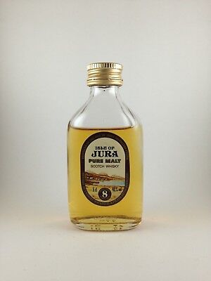 Isle of Jura Pure Malt Scotch Whisky 8 Years Old Rare 1980's Miniature