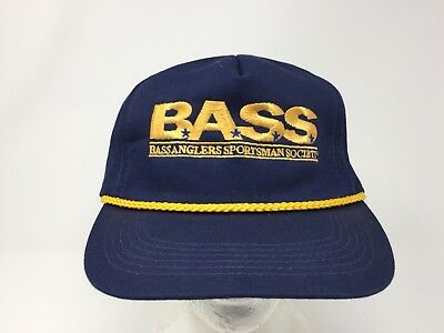 B.A.S.S. Bass Anglers Sportsman Society Embroidered Snapback Trucker Hat Fishing