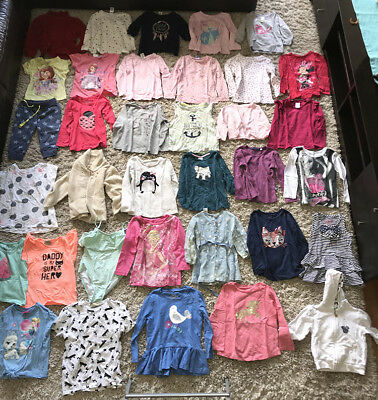 BATCH 14 - Girls bulk Clothes. Tops, jumpers > sizes 12 months to size 7.