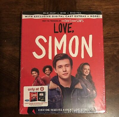 Love, Simon Target Exclusive Blu Ray DVD Digital with Bonus Content New Sealed