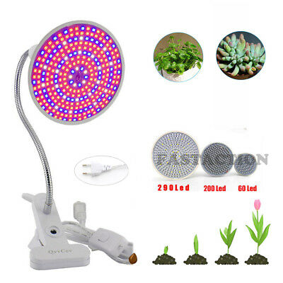 LED Grow Light Panel Lampe Set Voll Spektrum Pflanze Blumen Gemüse Pflanzenlampe