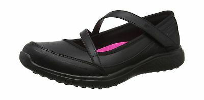 Skechers Girls' Microburst-Scholar Spirit Mary Janes Black (Black Bbk)