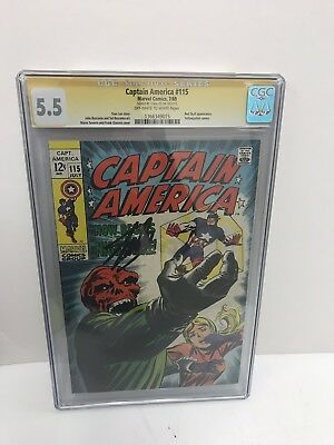 Captain America 115 CGC 5.5 Signiture Series Stan Lee Autograph Marvel Comic