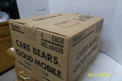 Vintage Care Bears Cloud Mobile Lot of 6 Sealed Inside Sealed Kenner Box! NEW!
