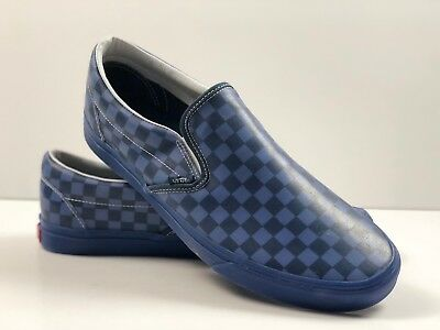 793704c3f3 Vans Classic Slip-on Translucent Rubber Reflective Pond Checkerboard  Sneakers.