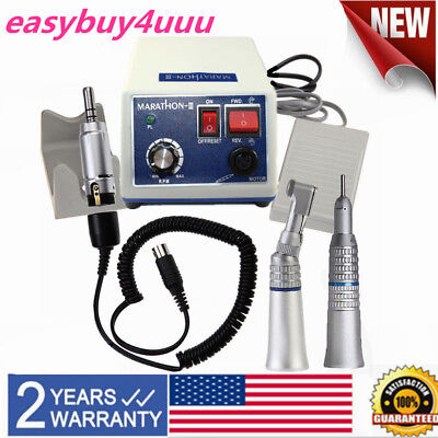 Dental Lab Marathon Electric Micro Motor With Straight Contra Angle Handpiece N3