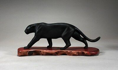 BLACK PANTHER, JAGUAR Sculpture New direct from John Perry 15in long Signed