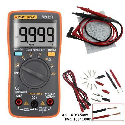 AN8008 True-RMS Digital-Multimeter 9999 zählt Square Wave Amperemeter HS