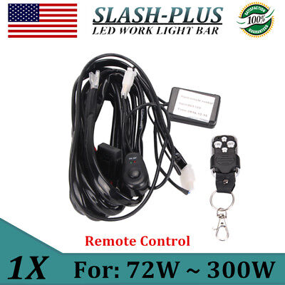 Remote Control Wiring Harness Kit Strobe Switch Relay For Led Light Bar 72W-300W
