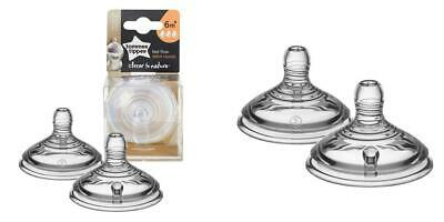 Tommee Tippee Closer to Nature Baby Bottle Feeding Nipple Replacement,...