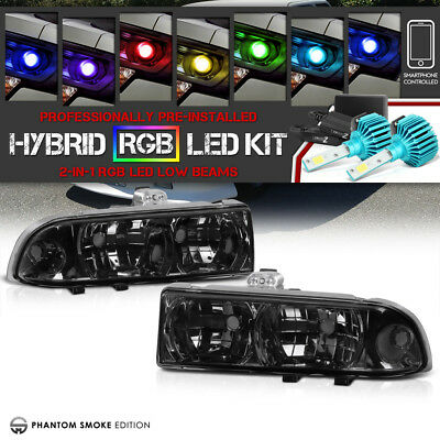 [Color Strobe LED Low Beam] Chevy 98-04 S10 Pickup ZR2/LS/LT Blazer Headlights