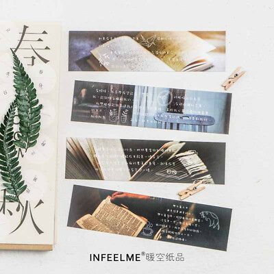 30pcs/Box Sing A Song Waiting Sunset Bookmark Book Mark Magazine Label Memo Gift