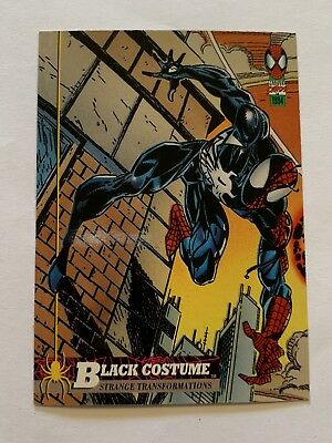 1994 Fleer Spider-Man Marvel Card #19 Black Costume