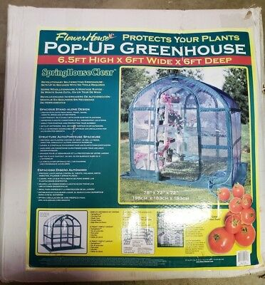 Flower House Pop-Up Greenhouse NOS
