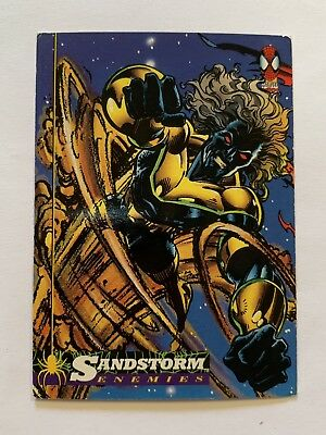 1994 Fleer Spider-Man Marvel Card #37 Sandstorm