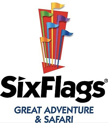 SIX FLAGS GREAT ADVENTURE NJ or HURRICANE PARKING PASS $9 PROMO TICKET DISCOUNT