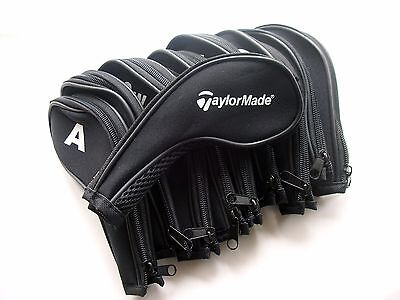 Taylormade Golf Club Iron Covers Zipped Headcovers, Set of 11 Covers