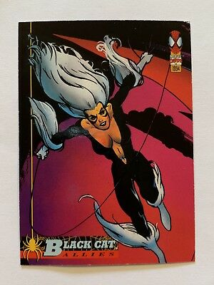 1994 Fleer Spider-Man Marvel Card #73 Black Cat