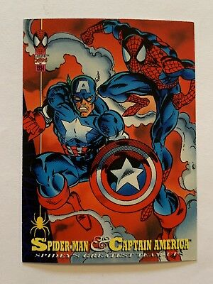 1994 Fleer Spider-Man Marvel Card #90 Captain America