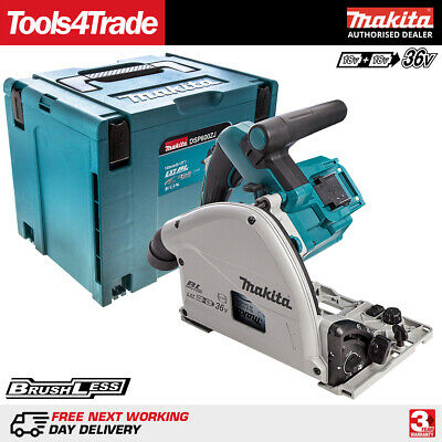 Makita DSP600ZJ 36V Twin 18V LXT Brushless 165mm Plunge Saw With MAKPAC Case