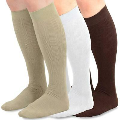 TeeHee Men's Bamboo Dress Over the Calf Socks Assorted Color 3-pack