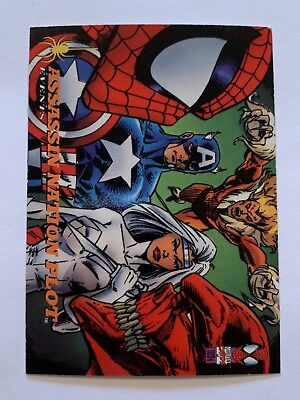1994 Fleer Spider-Man Marvel Card #140 Assassination Plot
