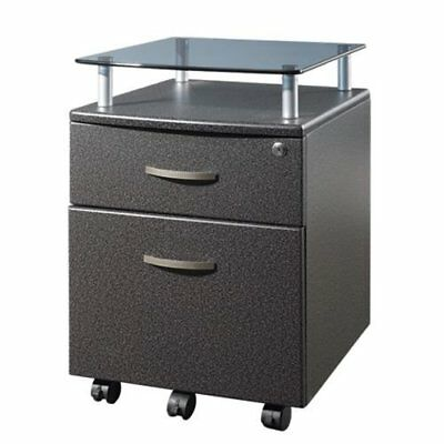 Gray Rolling Storage Cabinet- $45