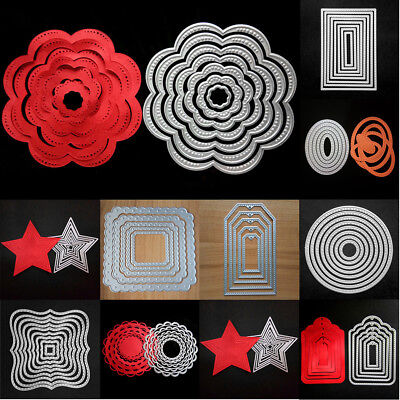 Metal Dies Set Scrapbooking Xmas Cardmaking Decor Cutting Dies Stitched Frames