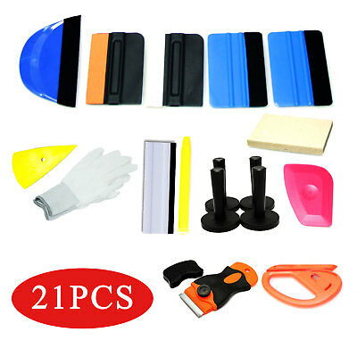 21X Window Tint Tools Car Wrapping Application Kit, Sticker Vinyl Sheet Squeegee