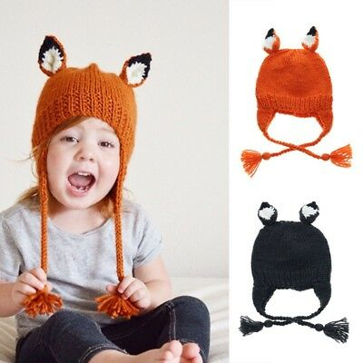 Cute Toddler Kids Girl&Boy Infant Baby Winter Warm Crochet Knit Hat Beanie-Cap