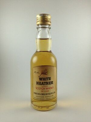 White Heather De Luxe Blended Scotch Whisky Circa 1980's Miniature