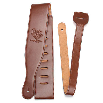 Adjustable Soft PU Leather Thick Strap Brown for Electric Acoustic Guitar Bass