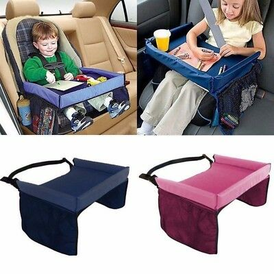 Baby Car Lap Tray Waterproof Safety Seat Snack and Play Portable Table KidTravel