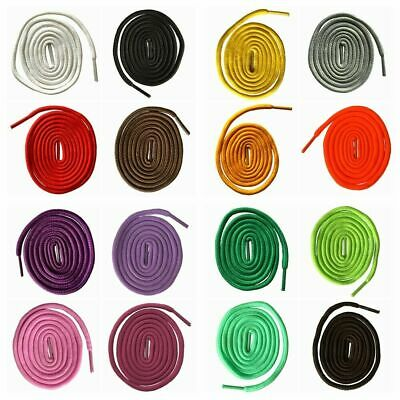 Round Shoe Laces Boot Laces Bootlaces Polyester Shoelaces  Various Colors 47-71""