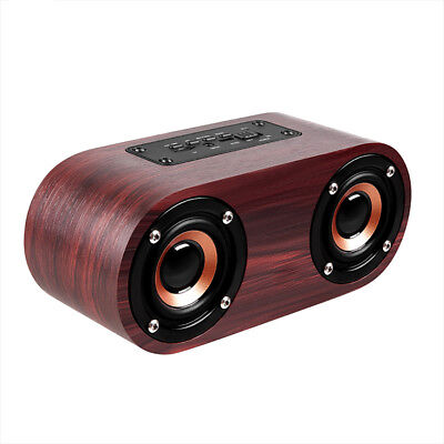 Wooden Wireless Bluetooth Speaker Outdoor Portable Stereo Super Bass MP3 Player