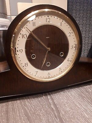 SMITHS Whittington/Westminster Dual Chiming Mantle Clock. Art Deco style.