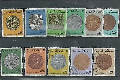 Morocco - 1976 Coin Definitives - Range of 11 different values - Postally Used