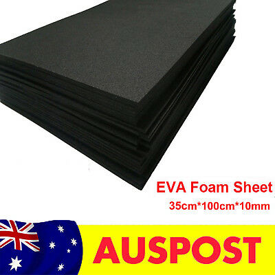 10mm Black EVA Foam Sheets Children Handmade DIY Craft Cosplay Model 35x100cm