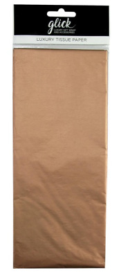 Glick Plain Luxury Tissue Wrapping Paper 4 sheets Rose Gold Copper
