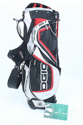 Ogio Ss Flight Stand Bag White Black Red 8 Way Divider Otgogi023
